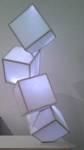 falling cubes paper piece