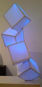 falling cube blue